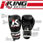 King KPB Pro Boxing rokavice Black/Red-4941